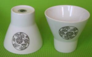 Porcelain Teacups Hildegarde de Bingen - set of 2 cups