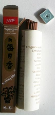 Morning Star Frankincense Incense | Box of 50 Sticks & Holder by Nippon Kodo