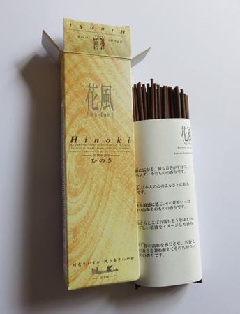 Japanese Incense | Nippon Kodo | Ka-fuh Hinoki | 120 Sticks | Low Smoke