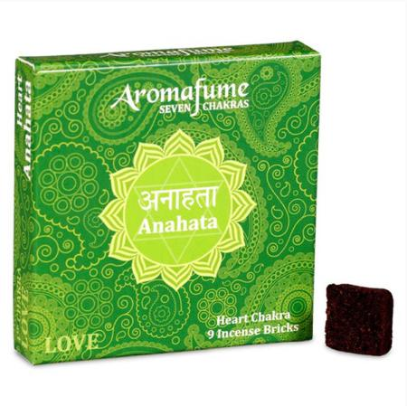 Aromafume Incense Bricks | 4th Chakra - Anahata (Heart Chakra) | 9 brick pack