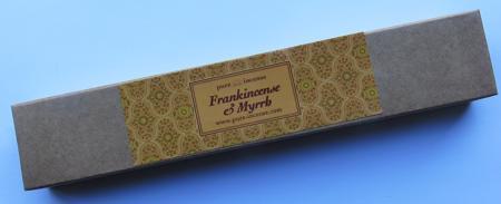 Frankincense & Myrrh Indian Incense | Pure Incense Absolute | 50 gram box