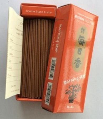 Morning Star Myrrh Incense | Box of 200 sticks & holder by Nippon Kodo