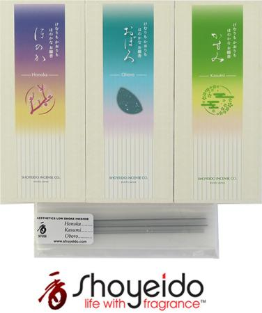 New Low Smoke Japanese Incense Sticks from Shoyeido