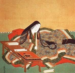 Murasaki Shikibu - Tosa Mitsuoki's painting
