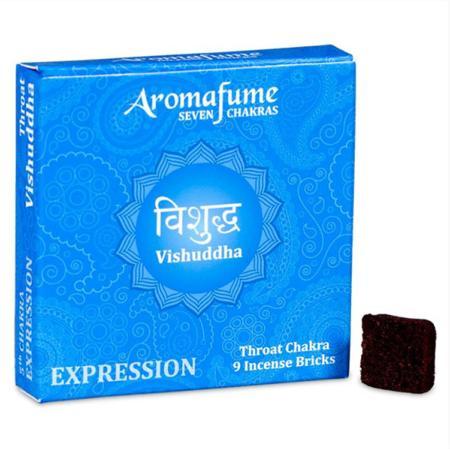 Aromafume Incense Bricks | 5th Chakra - Vishuddha (Throat Chakra) | 9 brick pack