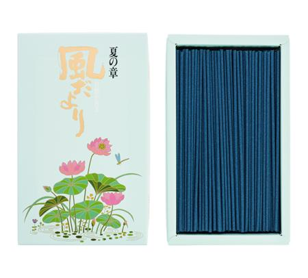 Japanese Incense Sticks | Nippon Kodo | Kazedayori Summer (Lotus) | 360 Boxed