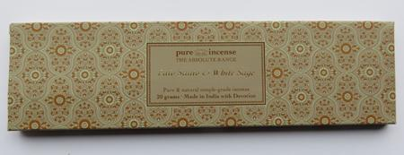 Palo Santo & White Sage Indian Incense | Pure Incense Absolute | 20 gram pack