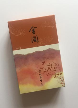 Golden Pavilion or Kin-kaku Japanese Incense | Box of 450 Sticks by Shoyeido