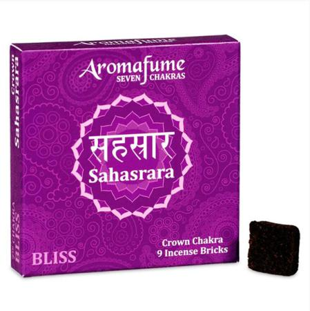 Aromafume Incense Bricks | 7th Chakra -Sahasrara (Crown Chakra) | 9 brick pack
