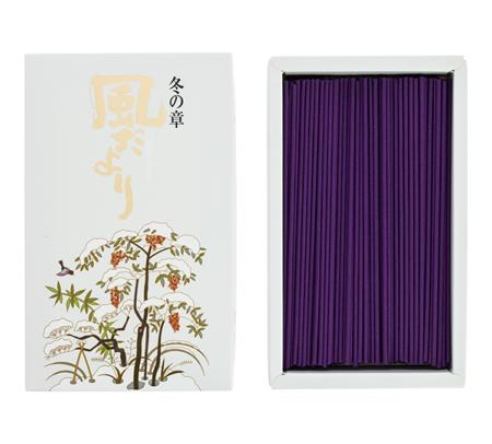 Japanese Incense Sticks | Nippon Kodo | Kazedayori Winter (Narcissus) | 360 Boxed | Low Smoke