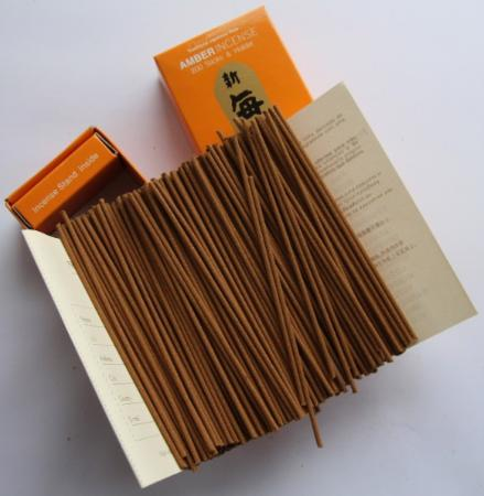 Morning Star Amber Incense | Box of 200 Sticks & Holder by Nippon Kodo