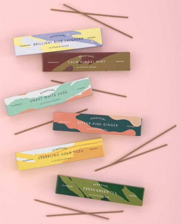 Scentsual range of naturally fragranced Japanese Incense sticks | sold by Vectis Karma Online Incense Shop