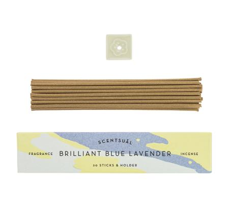 Blue Lavender | Scentsual range Japanese Incense Sticks by Nippon Kodo | 30 sticks & holder