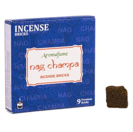 Aromafume Incense Bricks | Nag Champa fragrance | 9 brick pack