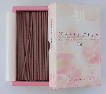 Japanese Incense | Nippon Kodo | Ka-fuh White Plum | 430 Sticks | Low Smoke
