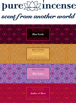 Our new line in Luxury Indian Incense Sticks - Pure Incense