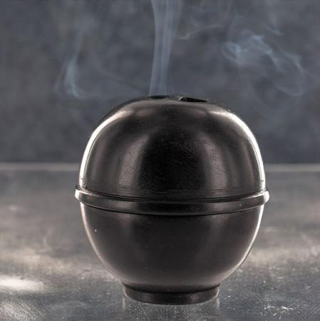 Incense Holder / Burner for Cones and Sticks | Kumo | Black | Natural Stone