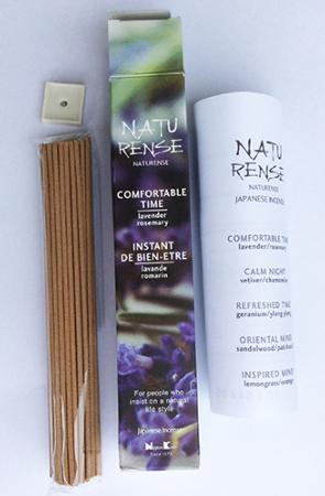 Naturense Japanese Incense | Comfortable Time | 40 Sticks & holder | by Nippon Kodo