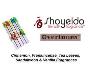 Shoyeido Japanese Incense - New Overtones range