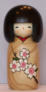 Japanese Kokeshi Doll | Cherry Blossom | Traditional Japanese Doll