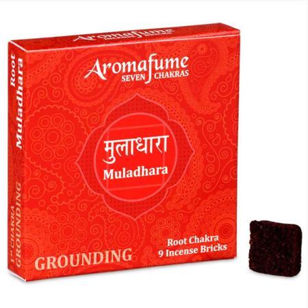 Aromafume Incense Bricks | 1st Chakra - Muladhara (Root Chakra) | 9 brick pack
