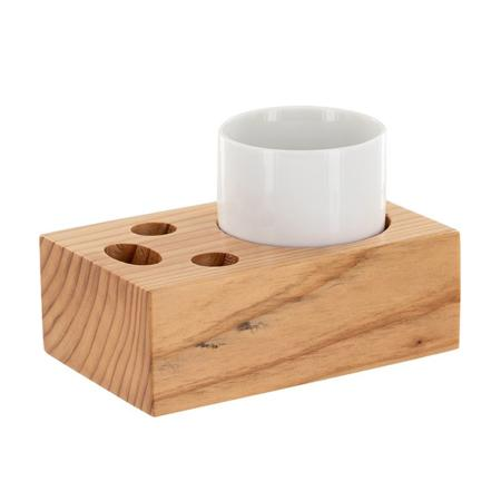 Incense Holder/Bowl Kit | Japanese Sugi Woodblock | Integrated Bowl/Stick/Lighter holder
