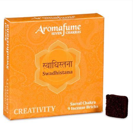 Aromafume Incense Bricks | 2nd Chakra - Swadisthana (Sacral Chakra) | 9 brick pack