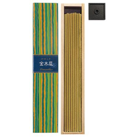 Osmanthus fragrance Japanese Incense | Kayuragi by Nippon Kodo | Box of 40 Sticks & holder