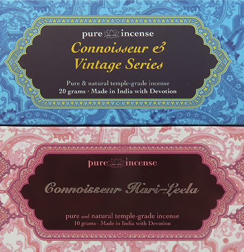 Connoisseur & Vintage | Premium Luxury Indian Incense by Pure Incense | sold by Vectis Karma Online Incense Shop