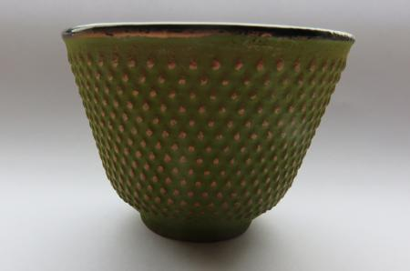 Incense Stick Bowl | Zen Cup | Cast Iron in Green and Gold