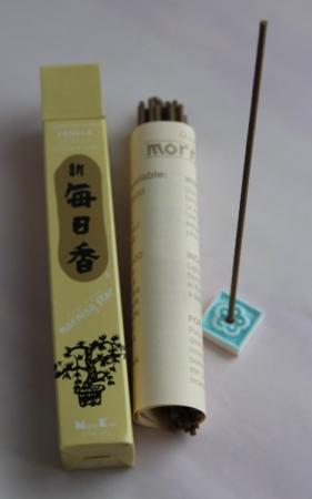 Morning Star Vanilla Incense | Box of 50 sticks & holder by Nippon Kodo