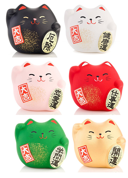 Japanese Lucky Cats | part of our Feng Shui range at Vectis Karma | Online Incense Shop