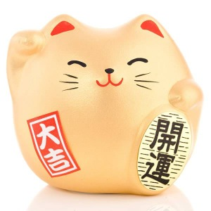 Japanese Lucky Cat | Feng Shui | Good Fortune | Small Gold
