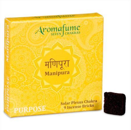 Aromafume Incense Bricks | 3rd Chakra - Manipura (Naval Chakra) | 9 brick pack
