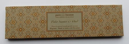Palo Santo & Oud Indian Incense | Pure Incense Absolute | 20 gram pack
