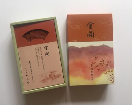 Golden Pavilion or Kin-kaku Japanese Incense | Box of 450 Sticks by Shoyeido