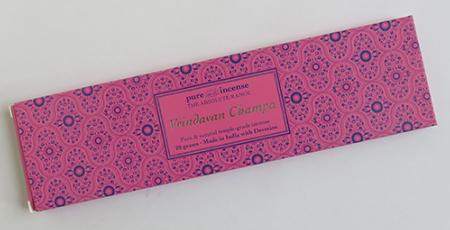 Vrindavan Champa Indian Incense | Pure Incense Absolute | 20 gram pack