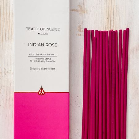 Temple of Incense |Indian Rose | 20 sticks