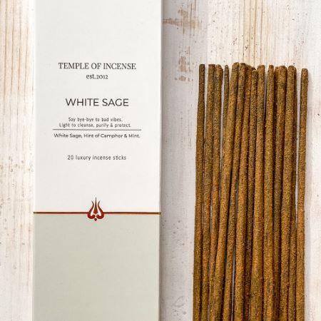 Temple of Incense   White Sage   20 sticks
