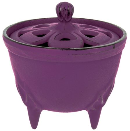 Cast Iron Incense Bowl with Lid | Purple | by Japanese maker Iwachu