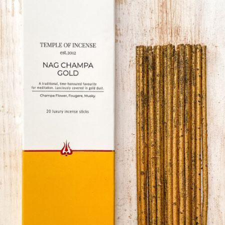 Temple of Incense   Nag Champa Gold   20 sticks