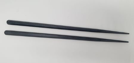 Black Chopsticks | 1 pair | 'heavyweight' with a simple design and a  fine textured points