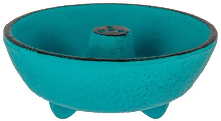 Cast Iron Incense Bowl | Turquoise | by Japanese maker Iwachu