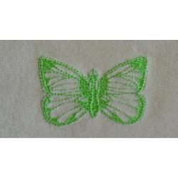 Grand bavoir Vert Coton Biologique Imperméable Papillon