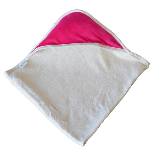 cape de bain Coton Bio - Capuche Rose