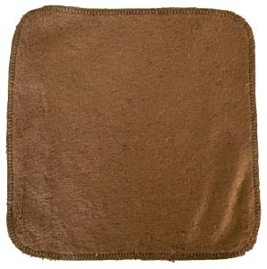 debarbouillette carrée 20 cm - Bambou Chocolat