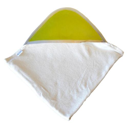 cape de bain Coton Bio- Capuche Verte
