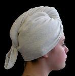 Serviette sèche cheveux Bambou Ecru
