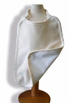 Serviette Maternelle Coton Biologique Imperméable BLANC