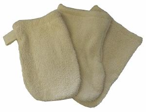 Lot de 3 gants apprentissage - coton bio Ecru